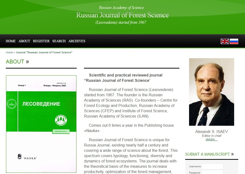 Russian Journal of Forest Science