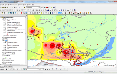 Regional information system of fire-prevention arrangement of forests for Irkutsk region (test region)