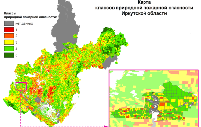 Natural fire hazard of forest area maps updating approach