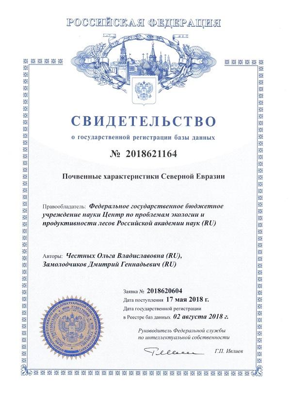 База данных «Почвенные характеристики Северной Евразии»