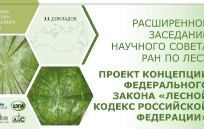 Расширенное заседание Научного совета РАН по лесу 28 ноября 2019 г.